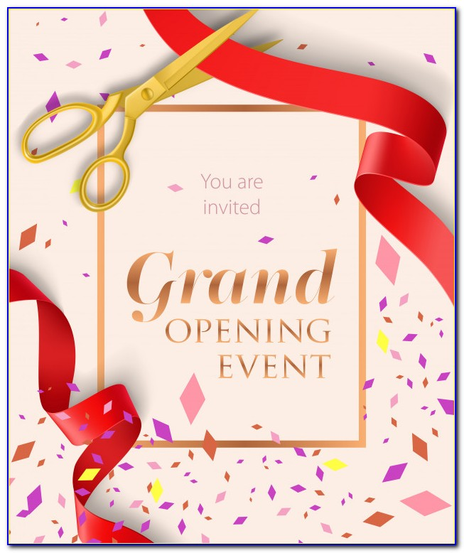 Grand Opening Invitation Card Design