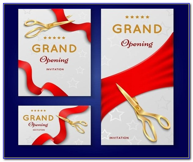 Grand Opening Invitation Design