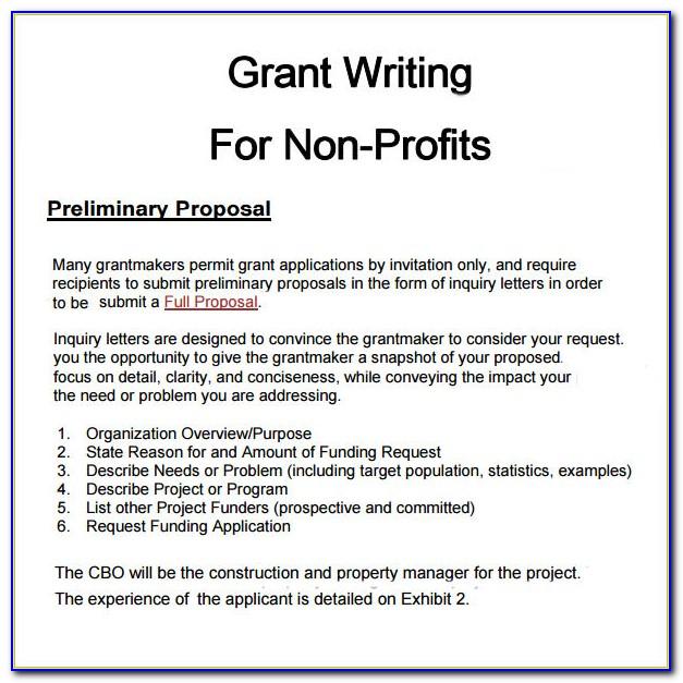 Grant Proposal Example Non Profit