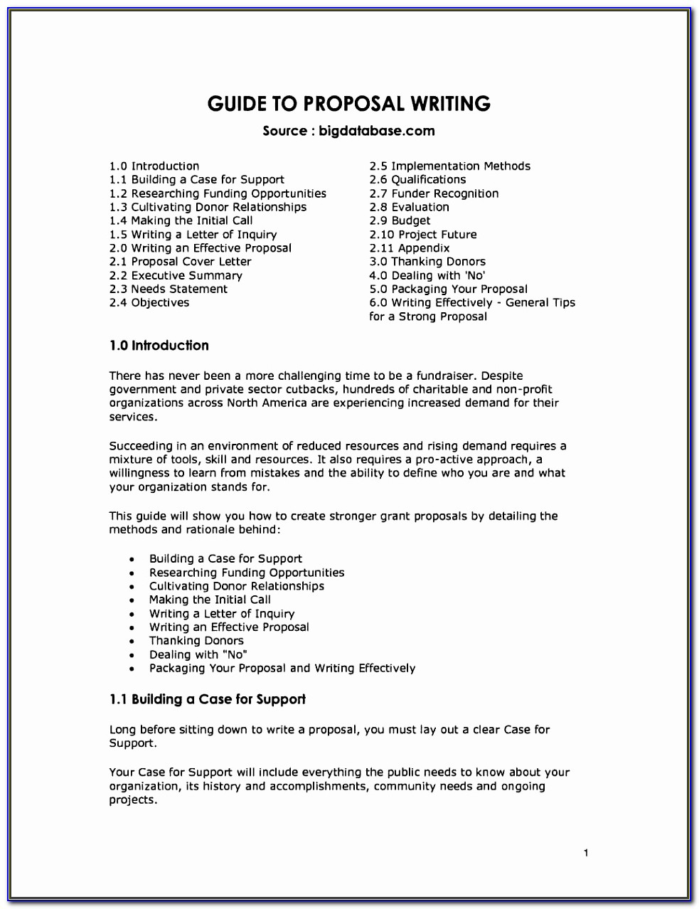 Grant Proposal For Nonprofit Organizations