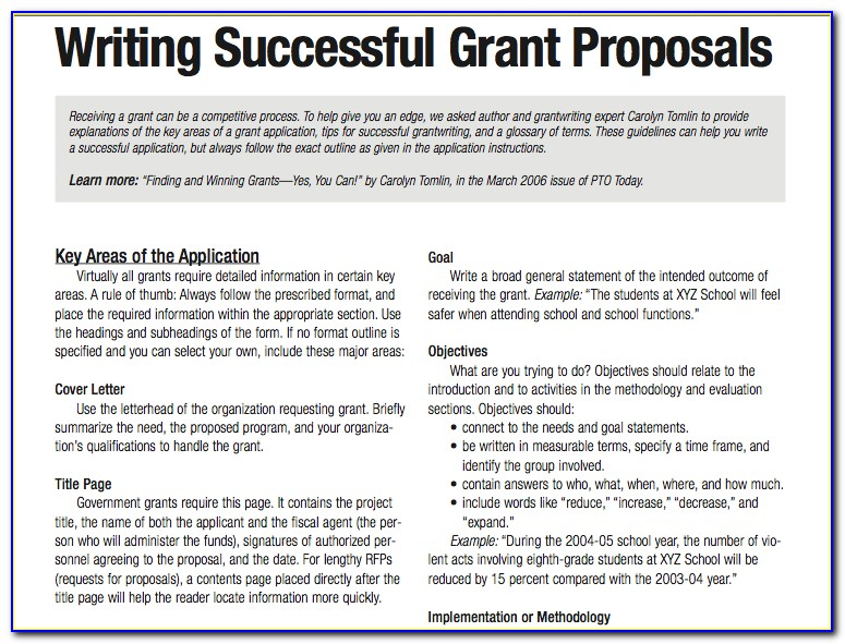 Grant Writing Samples Nonprofit