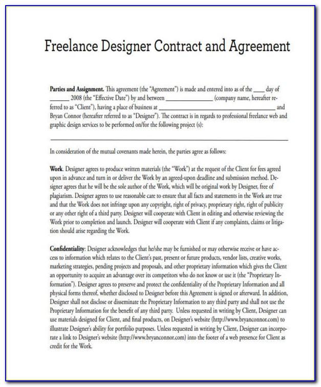 Graphic Design Freelance Contract Sample