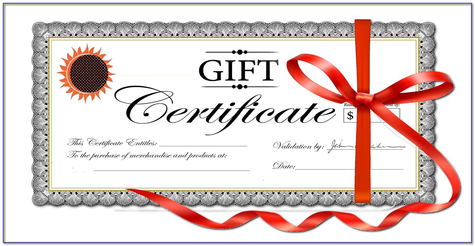 Graphic Design Gift Certificate Template