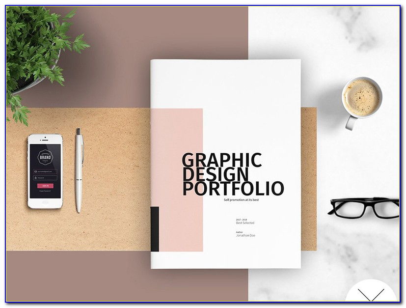 Graphic Design Portfolio Templates Indesign Free