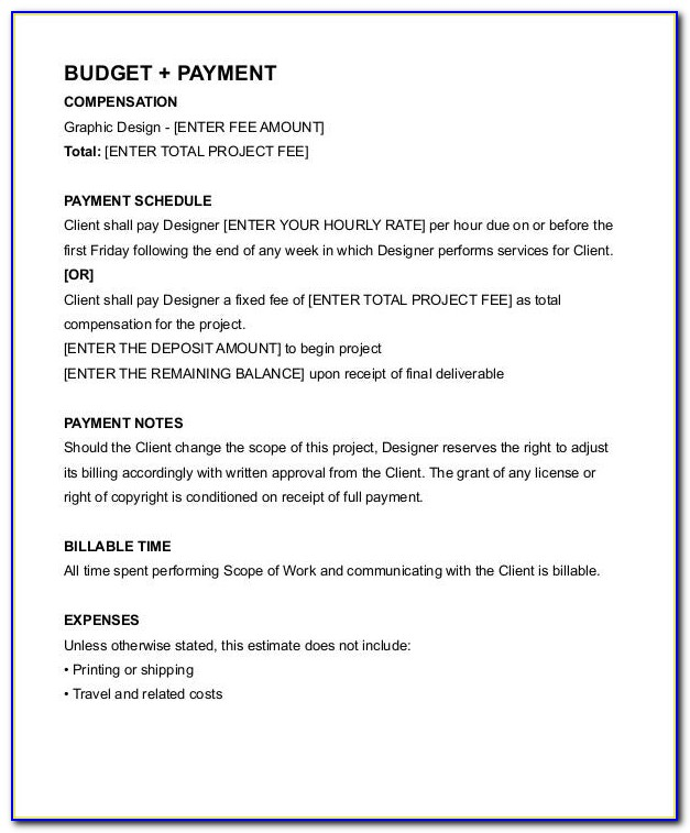 Graphic Designer Freelance Contract Example