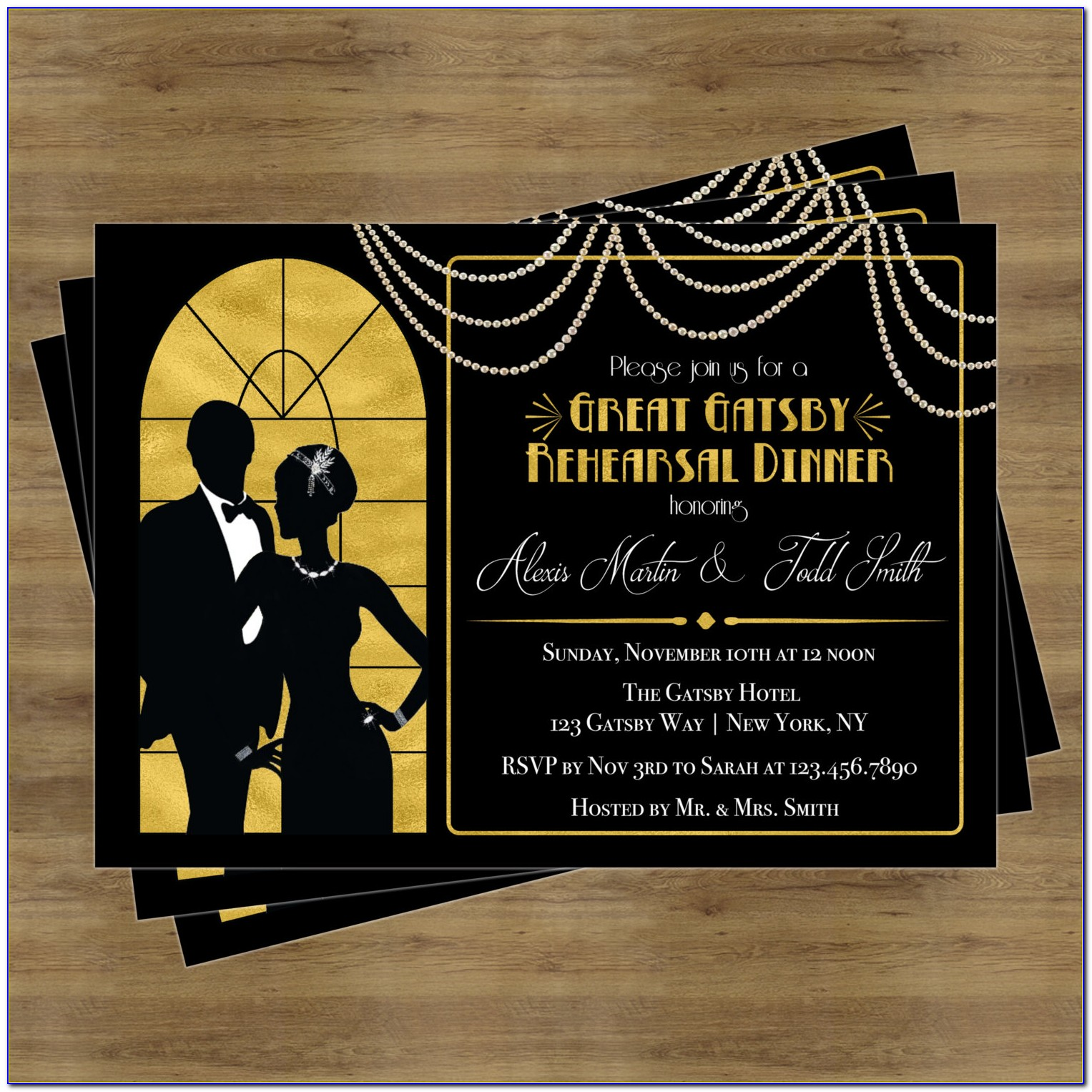 Great Gatsby Birthday Invitation Templates
