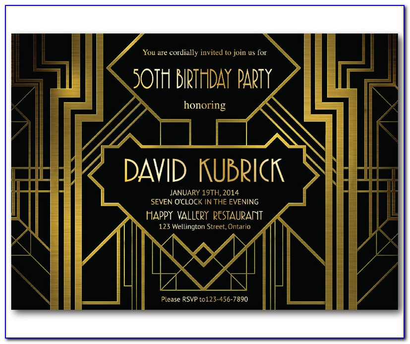 Great Gatsby Invitation Template Download