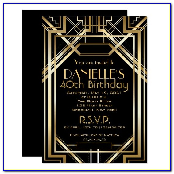 Great Gatsby Invitation Template