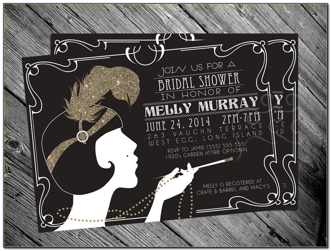 Great Gatsby Party Invitations Template