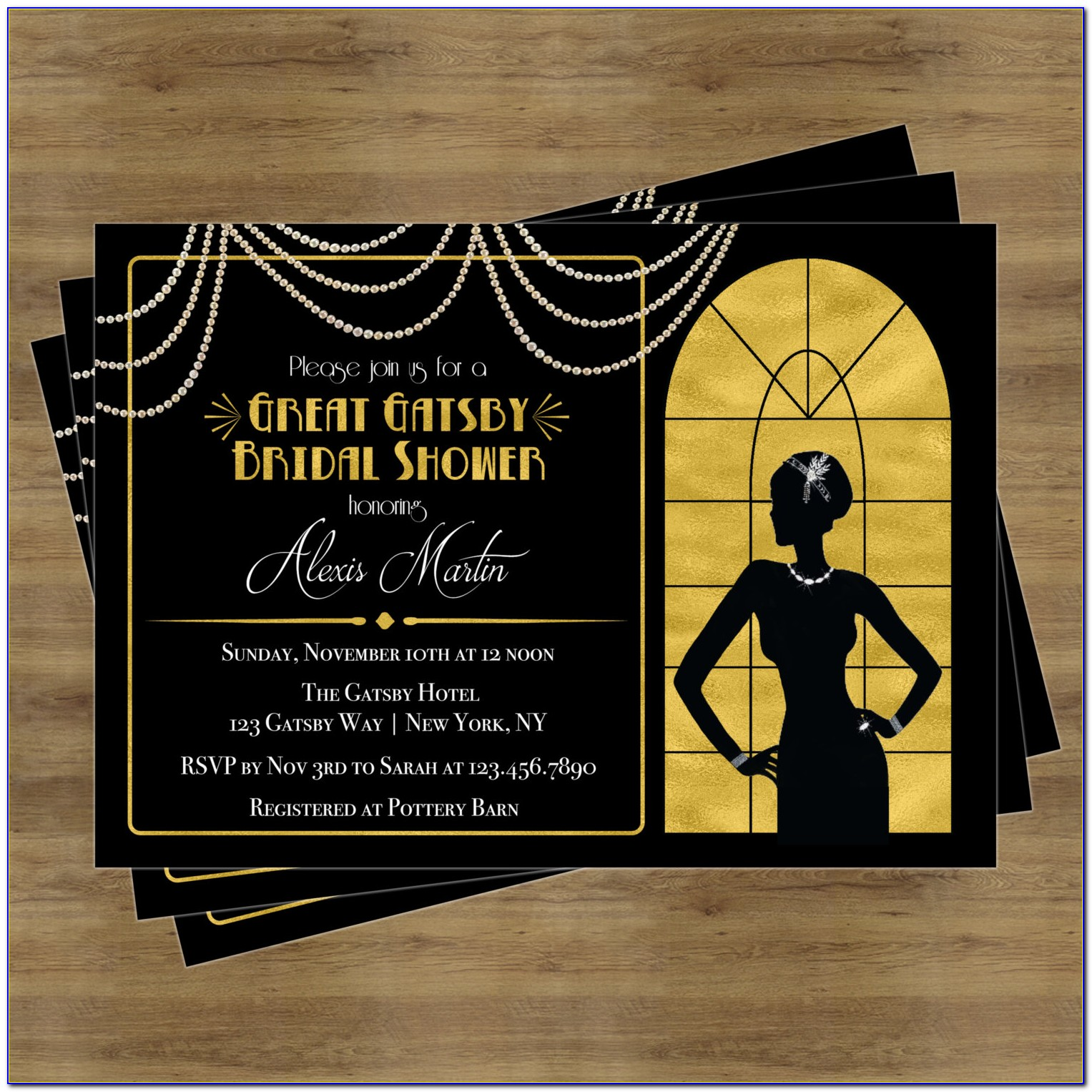 Great Gatsby Themed Invitation Template Free