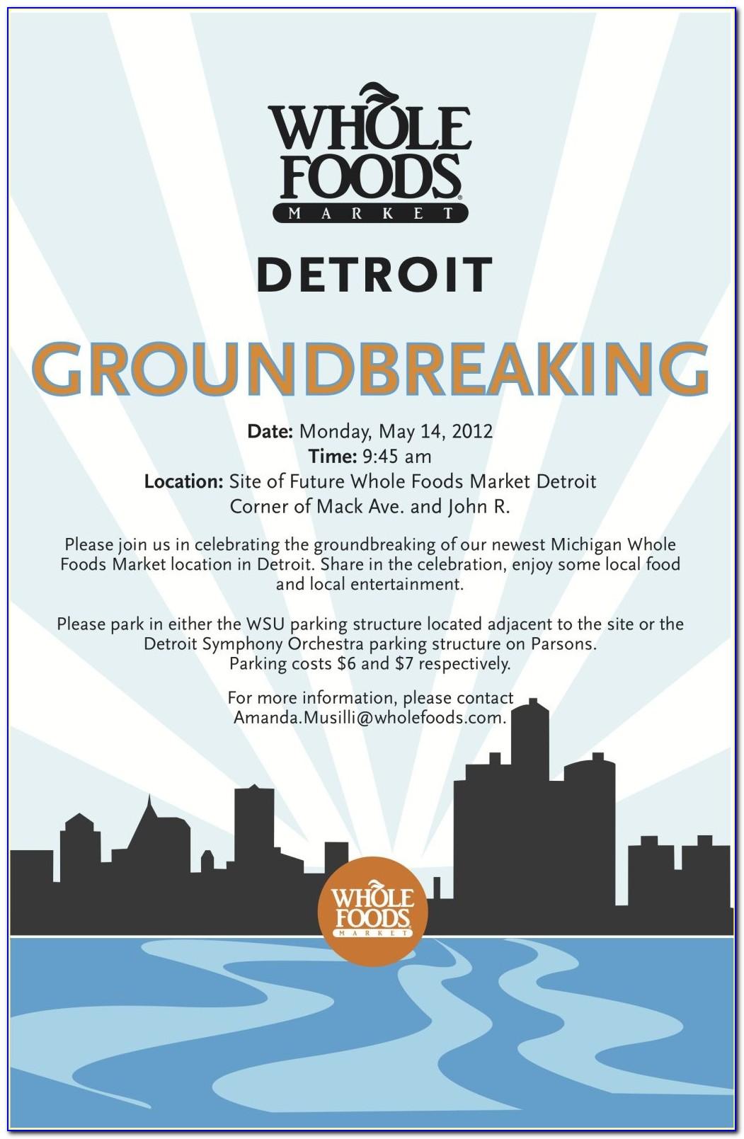 Groundbreaking Ceremony Invitation Sample