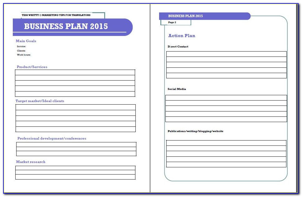 Growthink Strategic Plan Template Pdf
