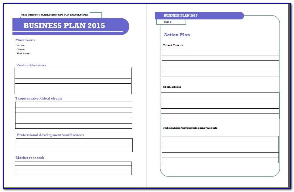 Growthink Strategic Plan Template Pdf