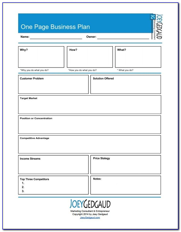 Growthink's Ultimate Business Plan Template