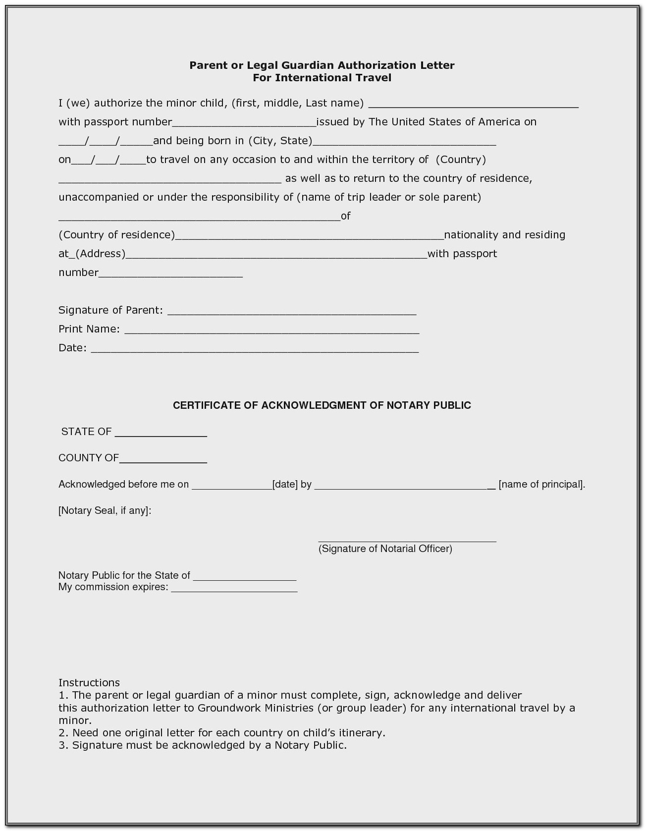 Guardianship Letter In Case Of Death Template California