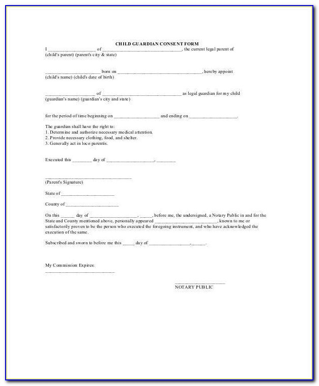 Guardianship Letter Template In Case Of Death