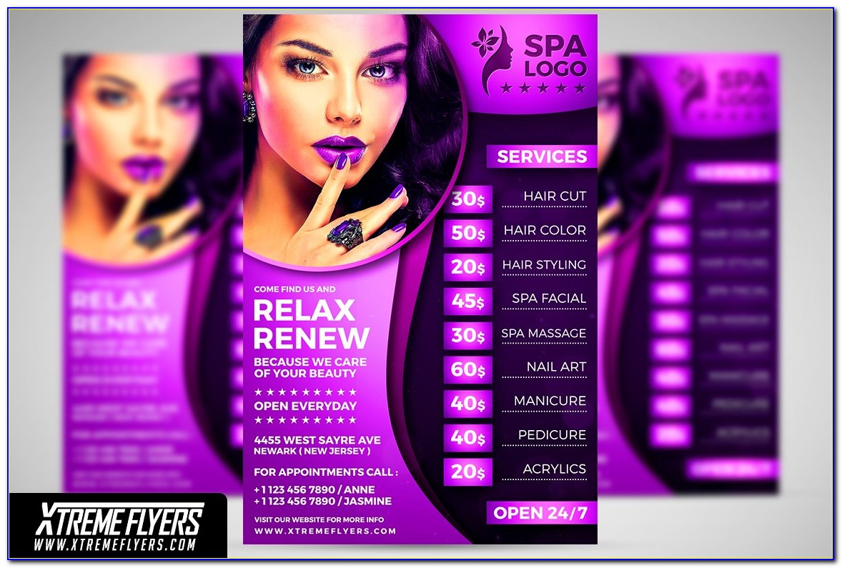 Hair Salon Flyer Template Free