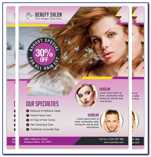 Hair Salon Flyer Templates Psd Free