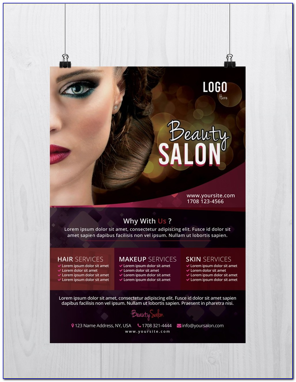 Hair Salon Price List Template Free Download