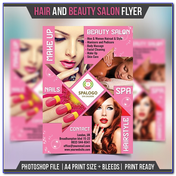 Hair Salon Promotional Flyer Template