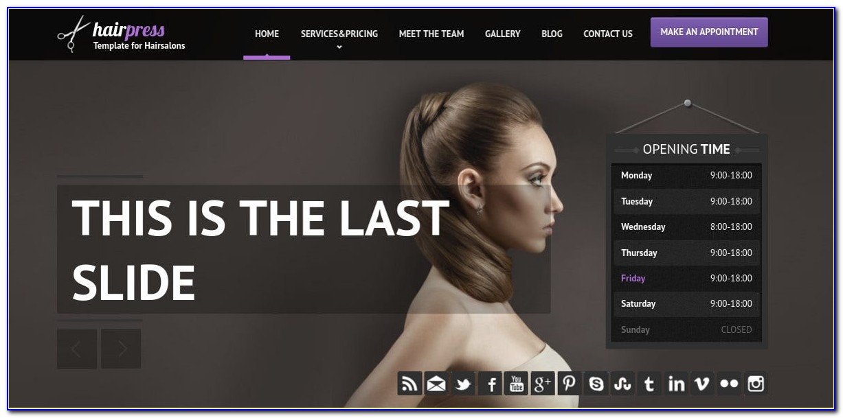 Hair Salon Web Template Free