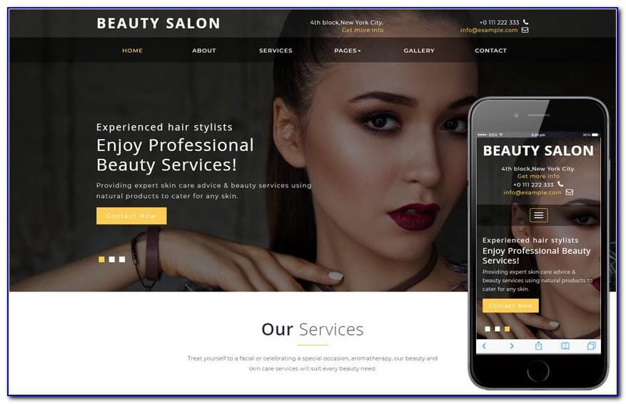 Hair Salon Website Design Templates Free