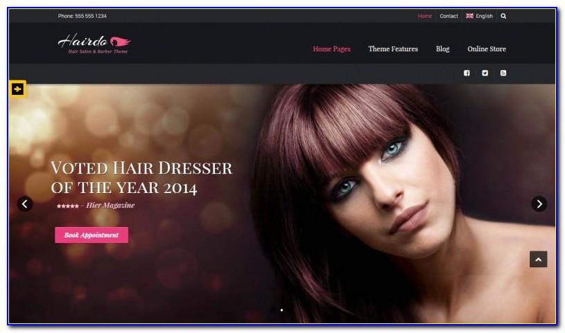 Hair Salon Website Templates Free