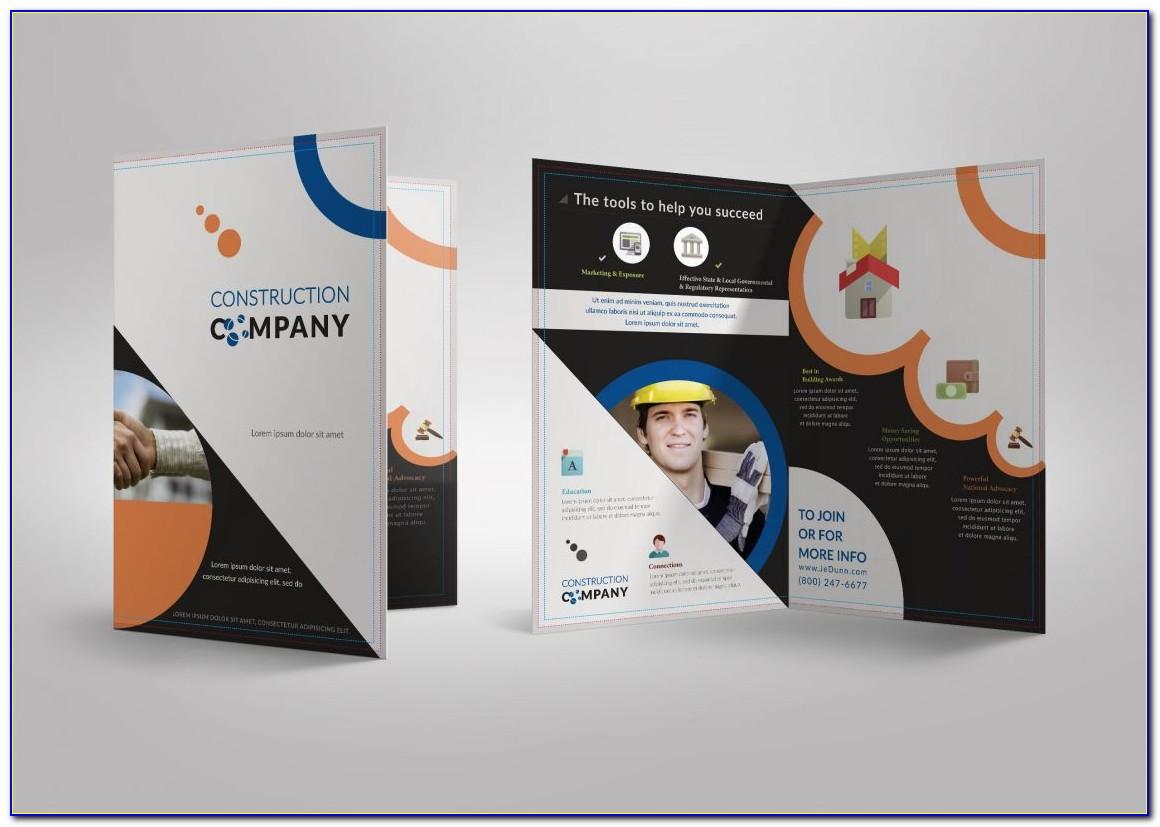 Half Fold Brochure Template Ai