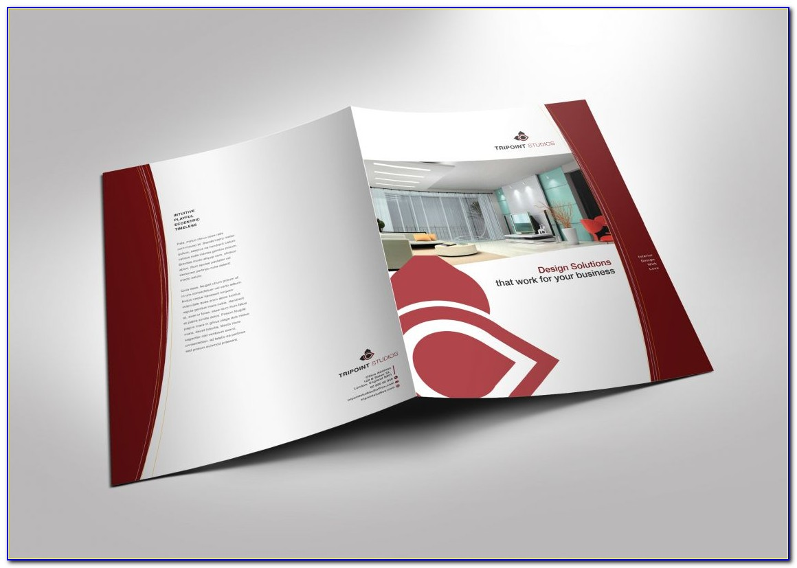 Half Fold Brochure Template Canva