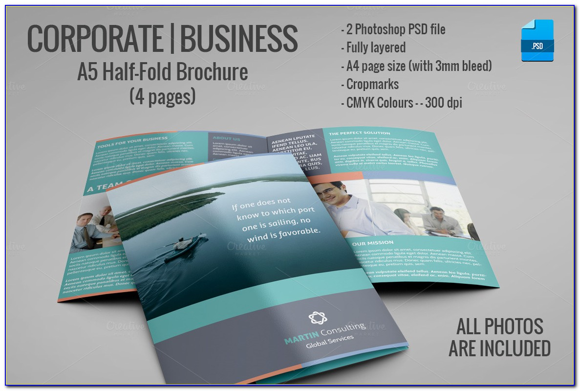 Half Fold Brochure Template Indesign