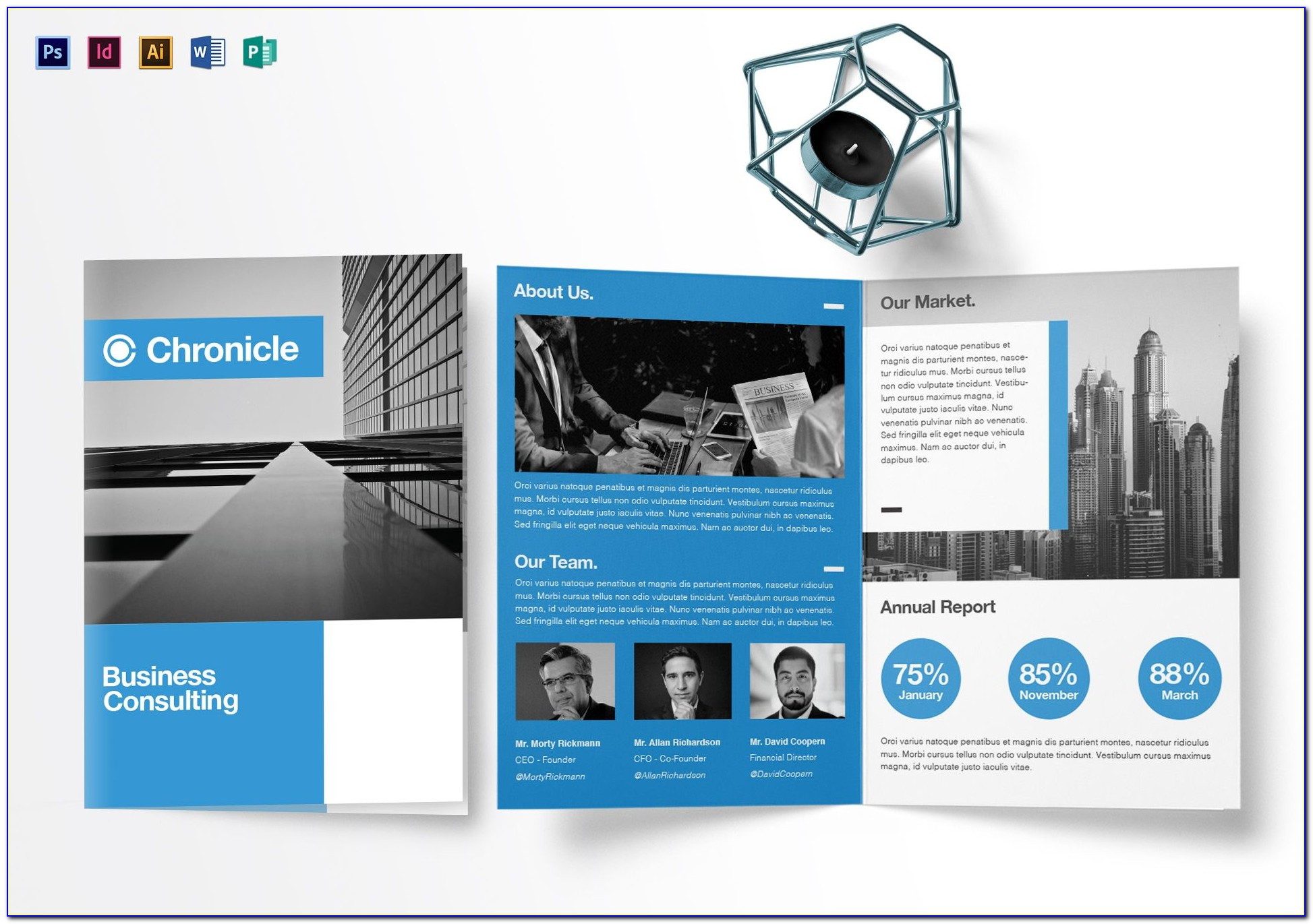 Half Fold Brochure Template Photoshop