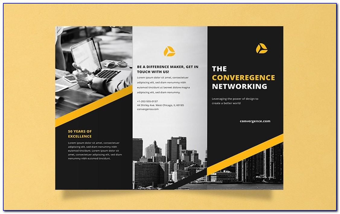 Half Fold Brochure Template Psd