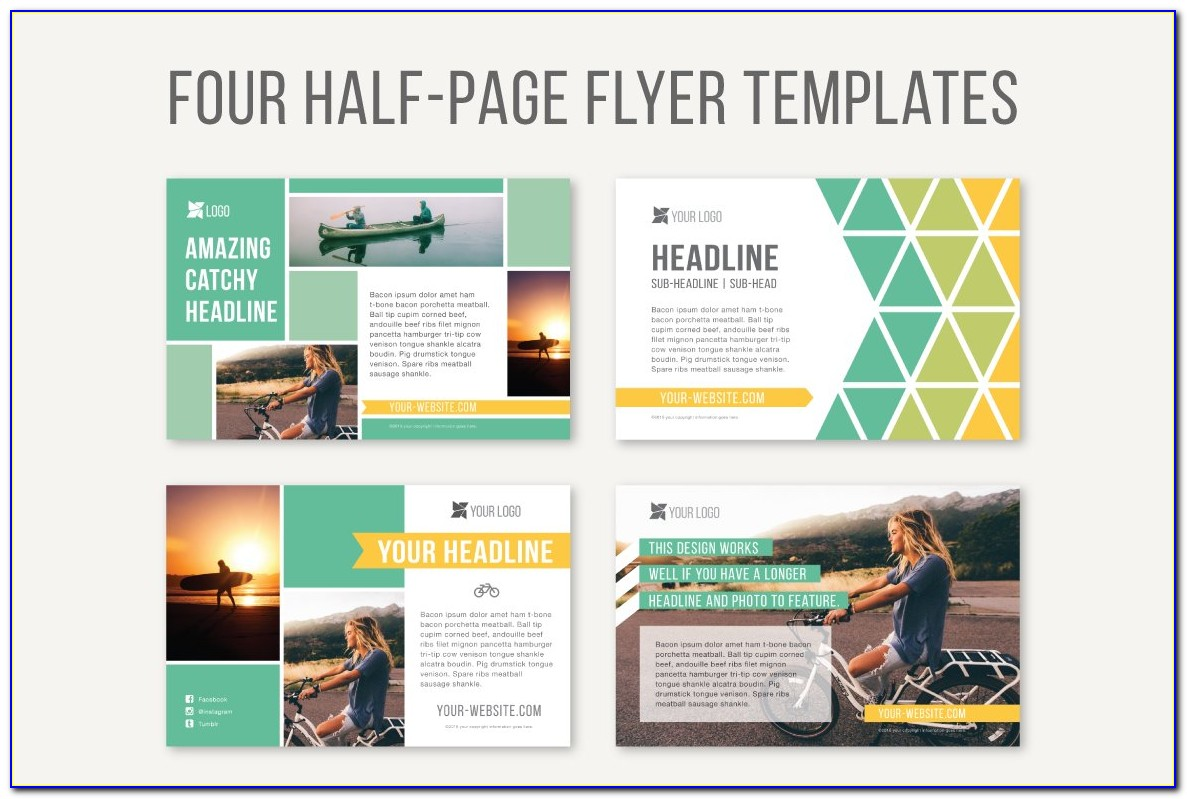 Half Page Brochure Template Free