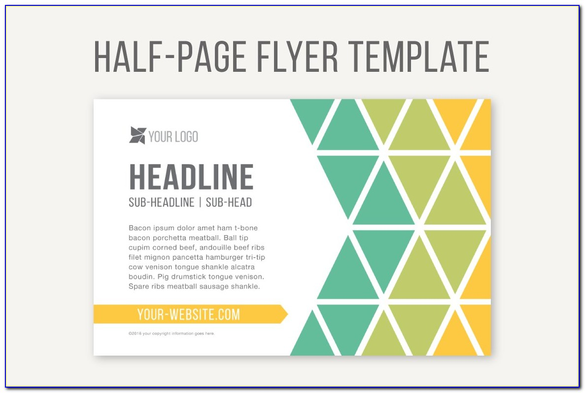 Half Page Flyer Template Illustrator