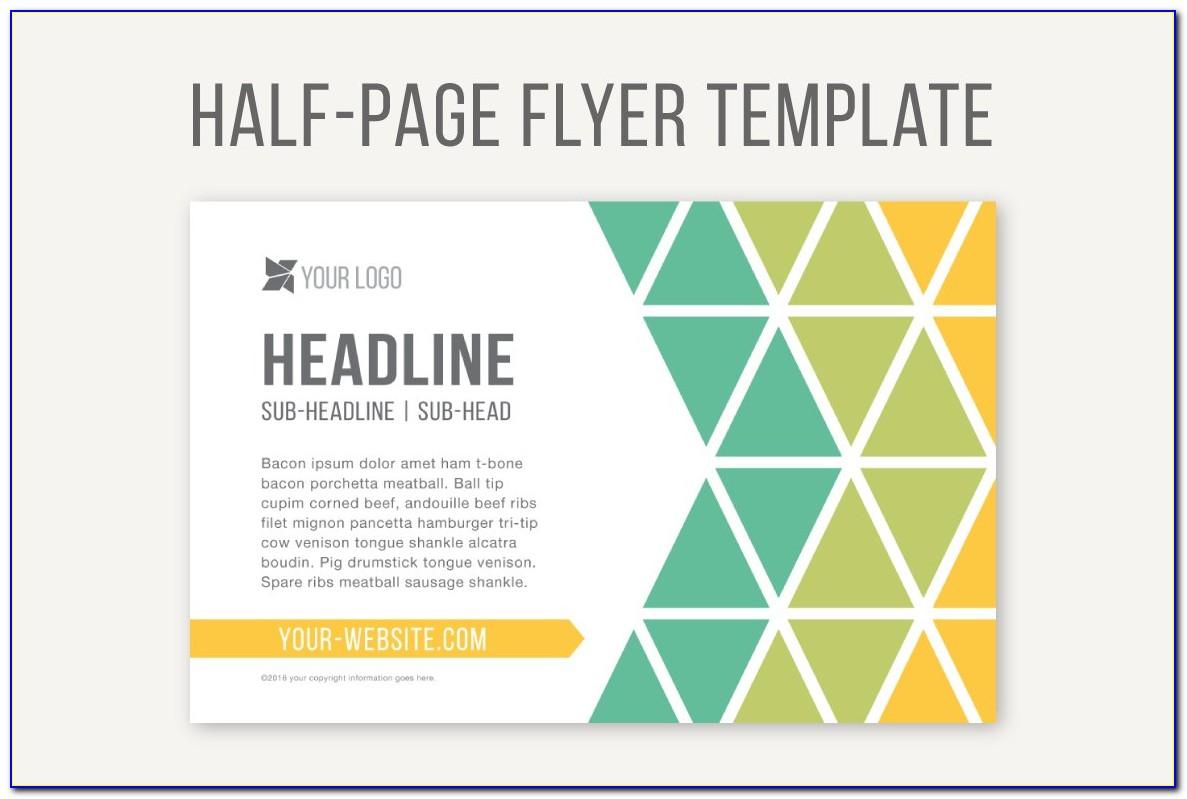Half Page Flyer Template Illustrator