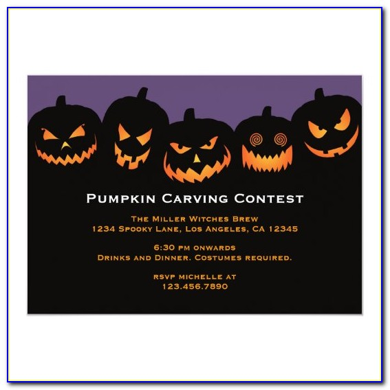 Halloween Pumpkin Invitation Template