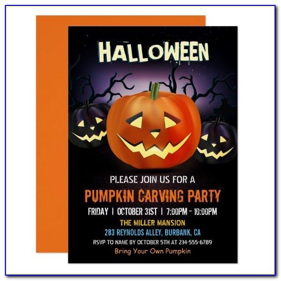 Halloween Wedding Invitations Templates Free