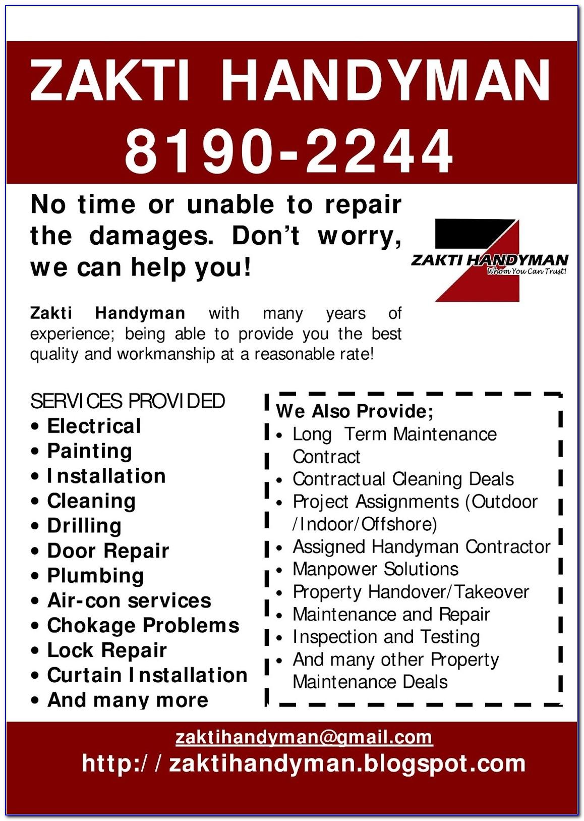 Handyman Contract Template Free