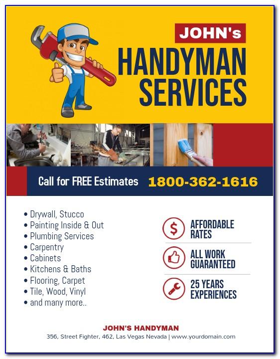 Handyman Invoice Template Uk