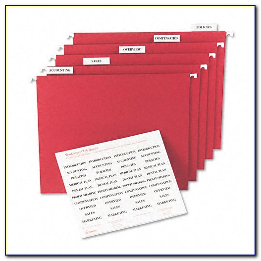 Hanging File Folder Labels Template
