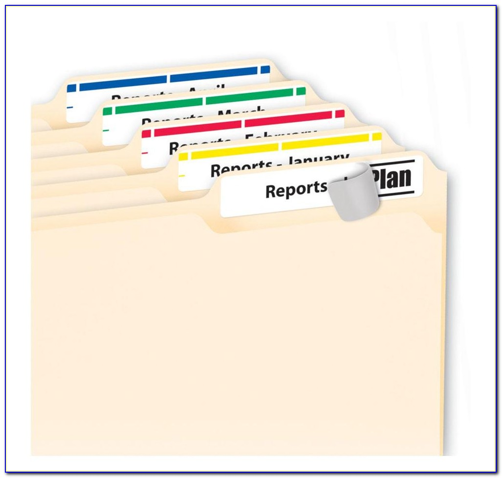 Hanging File Tab Template 5567