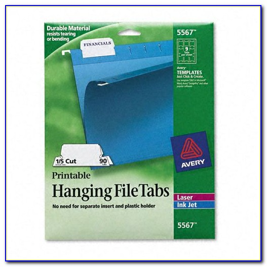 Hanging Folder Tab Template Word