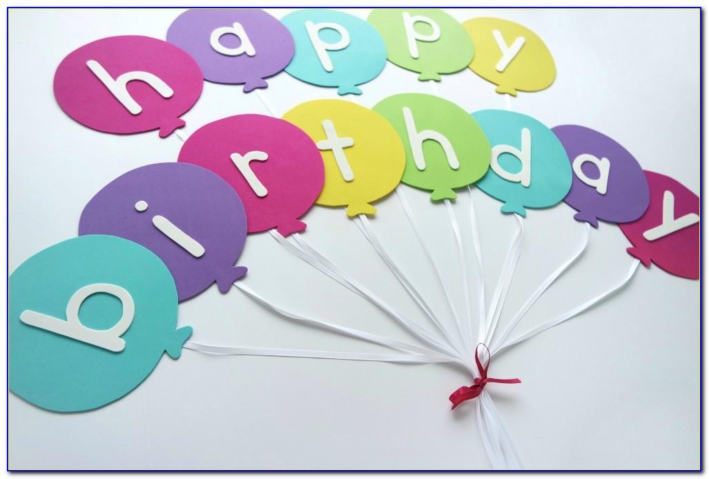 Happy Birthday Banner Template Diy