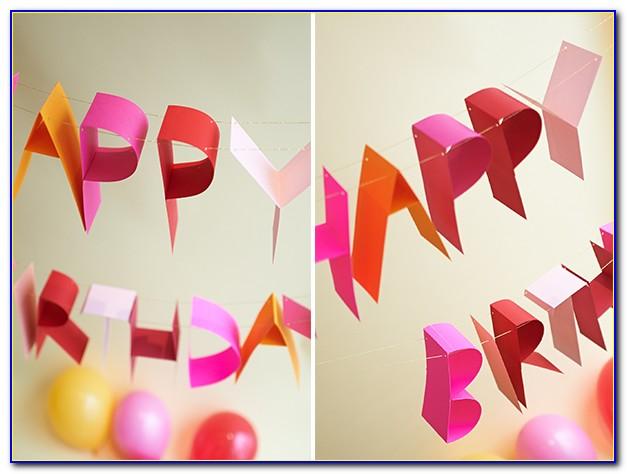 Happy Birthday Banner Template Martha Stewart