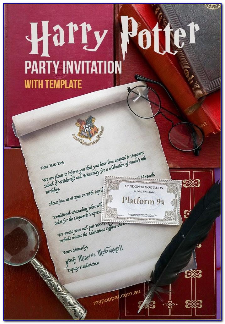Harry Potter Hogwarts Letter Template