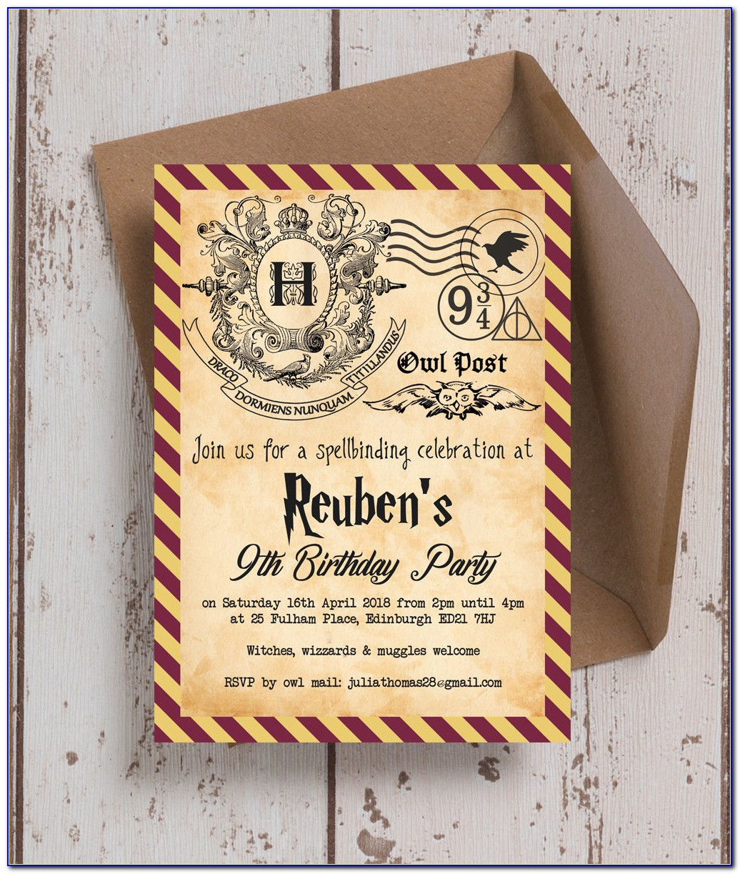 Harry Potter Invitation Template Pdf