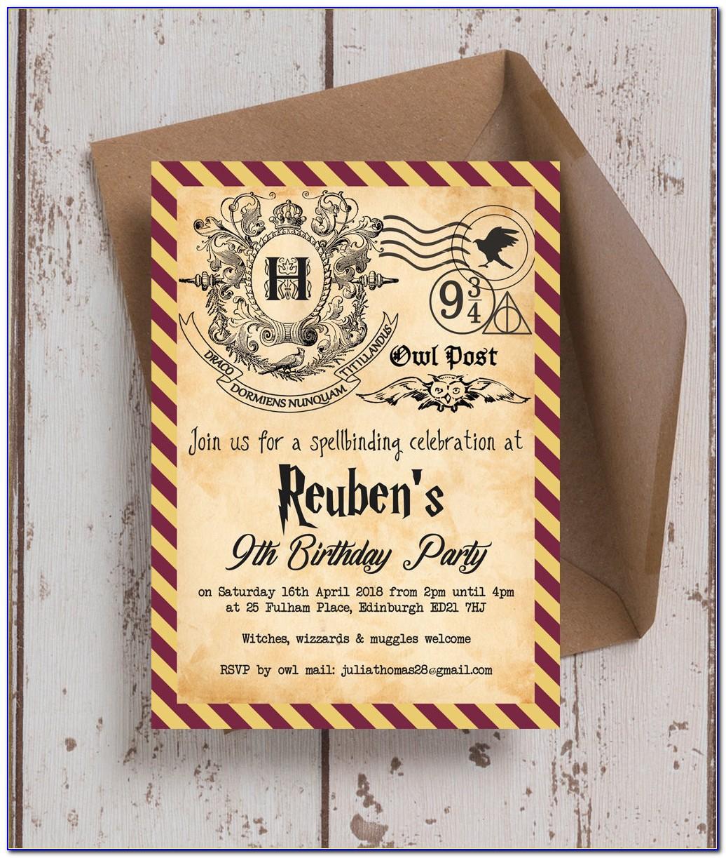 Harry Potter Invitation Template Pdf