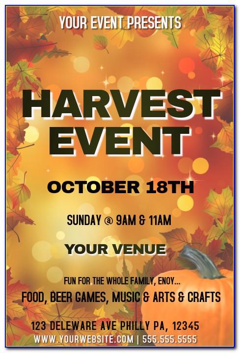 Harvest Festival Flyer Free Template