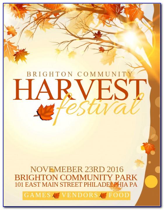 Harvest Festival Flyer Template Free