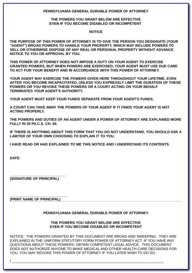 Hawaii General Durable Power Of Attorney Template
